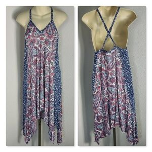 Lucky Brand Red White & Blue Size Small Sundress